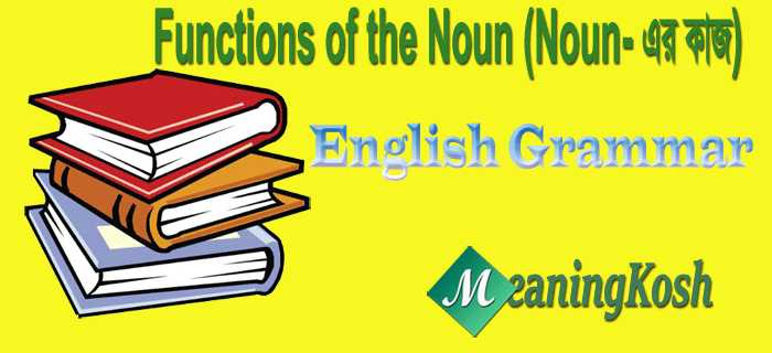 Functions of the Noun (NOUN-এর কাজ)